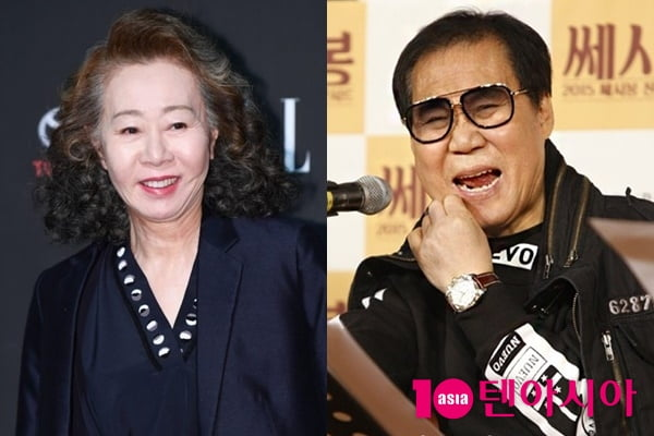 배우 윤여정(왼쪽), 가수 조영남/ 사진=텐아시아DB