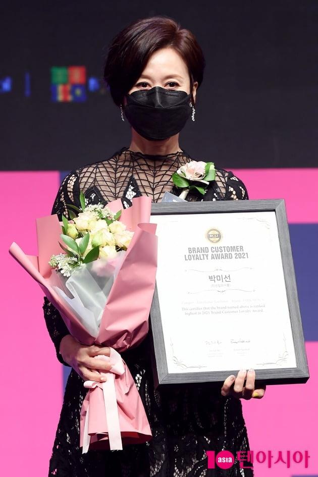 [TEN 포토] 박미선 '브랜드대상 연예인유튜버상 수상'