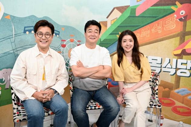 '골목식당' MC 김성주(왼쪽부터), 백종원, 정인선/ 사진=SBS 제공