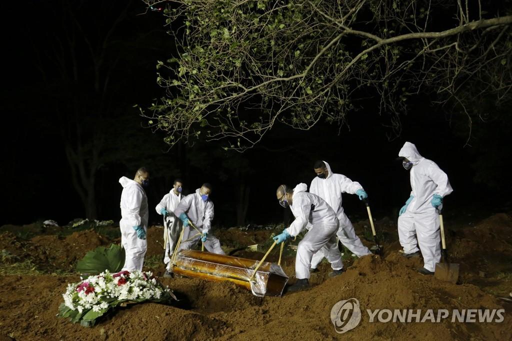 브라질, 코로나19 사망자 폭증해 옛 무덤까지 비운다