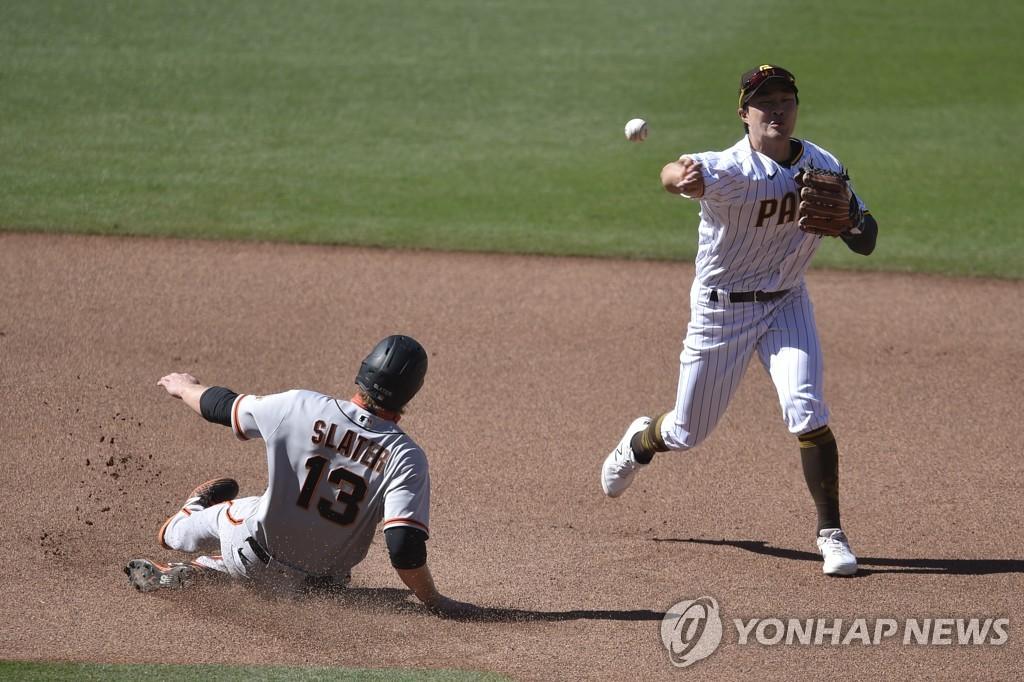 김하성, 4타수 무안타에 실책…러프는 2경기 연속 홈런