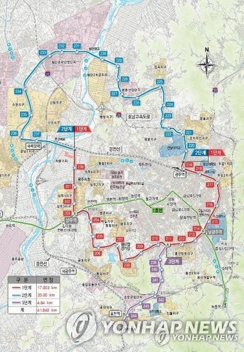 광주 도시철도 2호선 공사로 시민 불편…안내판·가림막 부실