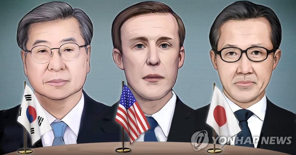 한미일 고위급 첫 3자회의…'바이든표 대북정책' 집중 협의