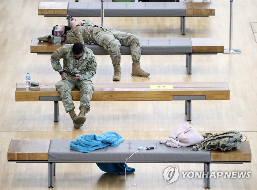 최근 입국 주한미군 장병·가족 4명 코로나 확진(종합)
