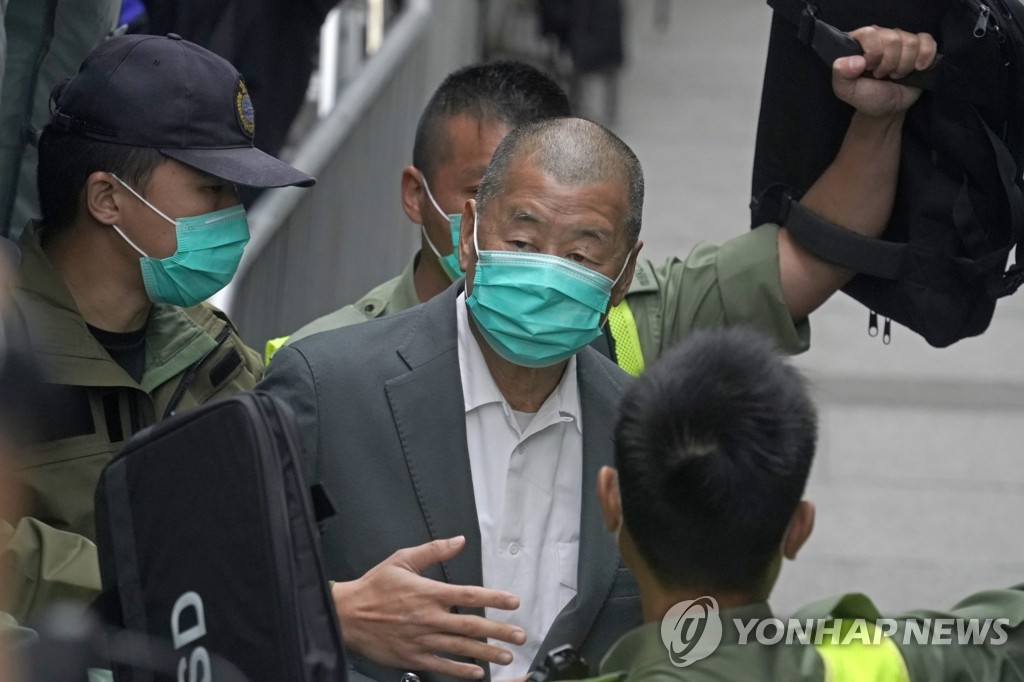 홍콩, '대규모 민주화 시위' 조직 반중매체 사주에 징역 14개월(종합2보)