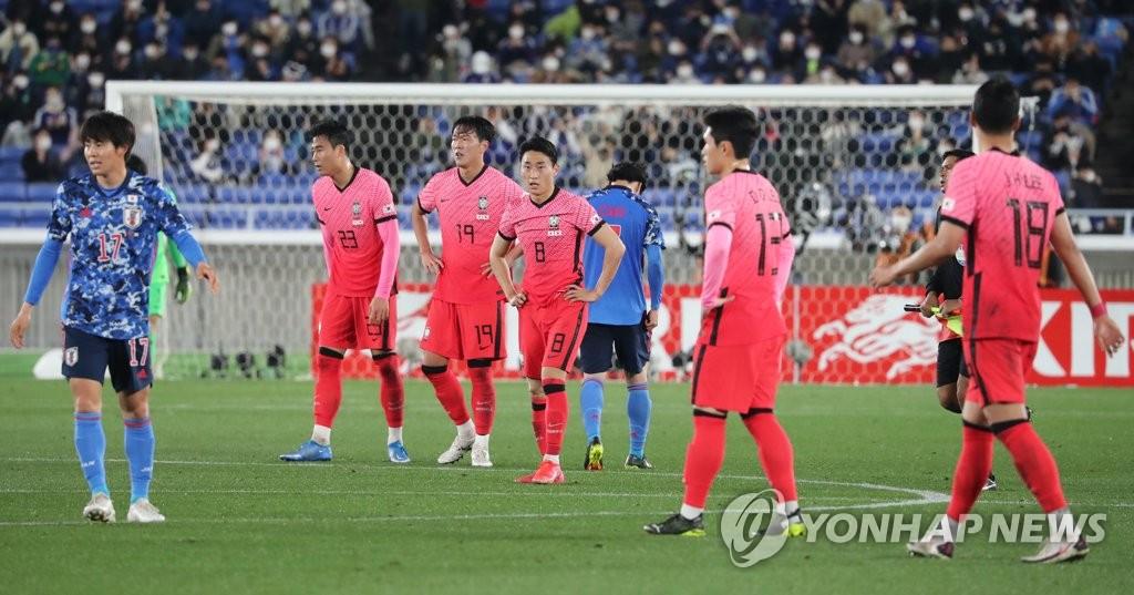'일본에 완패' 한국 축구, FIFA 랭킹 39위…한 계단 하락
