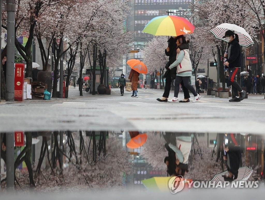 주말과 휴일 전국에 봄비…토요일 낮 기온 20도 내외