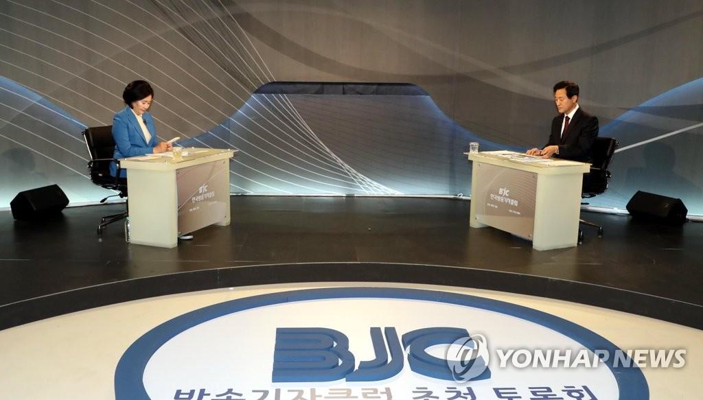 내곡동·세금폭탄·광화문…朴-吳, 마지막 토론서도 난타전