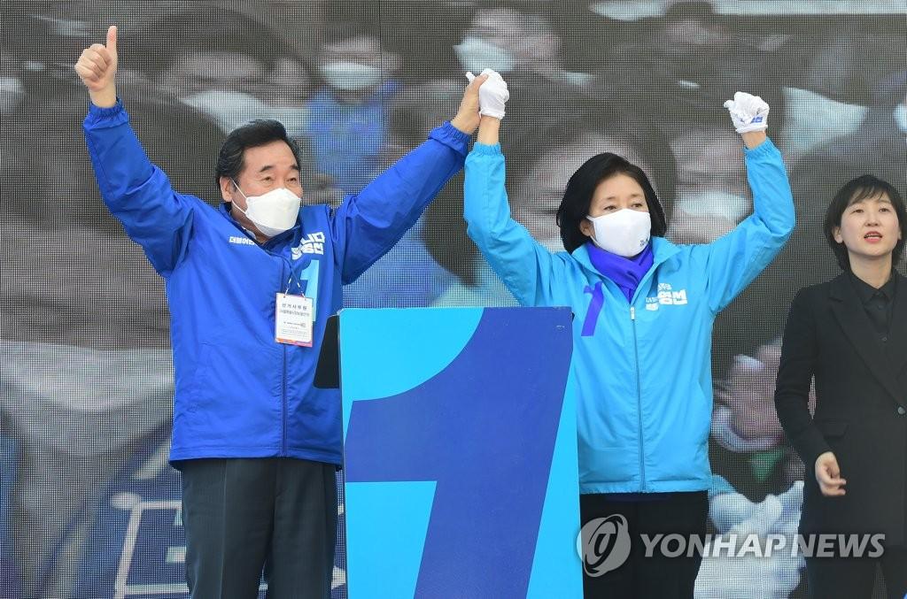 """'집토끼 결집' 18시간 강행군…박영선 """"새로 태어나겠다"""""""