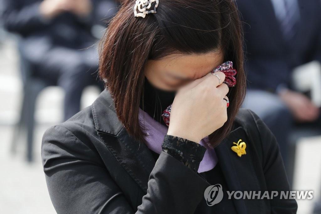 """""""잊지 않고 기억할게""""…안산·진도·인천서 세월호 7주기 추모식"""
