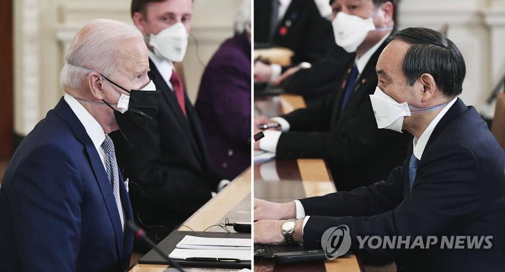 """바이든 """"日과 북한·중국문제 협력…5G·반도체망 공동투자""""(종합)"""
