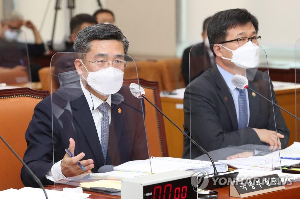 """서욱 """"北탄도미사일 사거리 600km""""…한달만에 정정"""