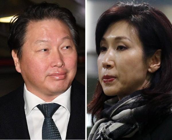 최태원 SK그룹 회장과 노소영 아트센터 나비 관장의 이혼소송이 내달 재개된다. /사진=연합뉴스