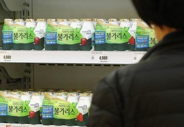 지난 14일 서울 시내 한 대형마트에서 판매 중인 남양유업 불가리스 제품. [사진=연합뉴스]