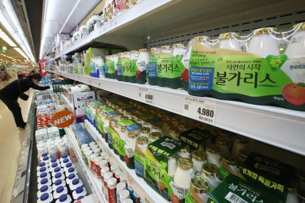 서울 시내 한 대형마트에 판매 중인 남양유업 불가리스. /사진=연합뉴스