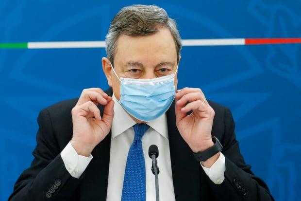 마리오 드라기 이탈리아 총리. /사진=AFP