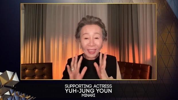 영화 '미나리'에 출연한 배우 윤여정. [사진=영국영화TV예술아카데미(BAFTA) 페이스북 캡처]