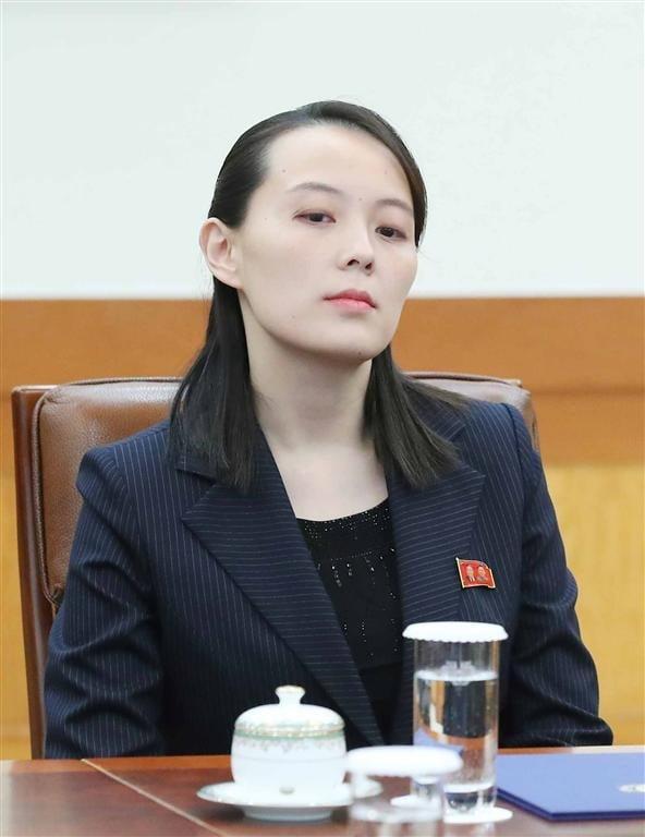 2018년 평창올림픽을 계기로 방남한 김여정 북한 노동당 부부장이 접견장에 먼저 입장해 문대통령을 기다리고 있는 모습. 허문찬기자 sweat@hankyung.com