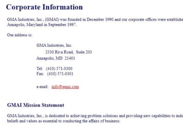 gmai닷컴은 구글이 Gmail 서비스를 시작하기 전인 1991년부터 미국 GMA인터스트리즈라는 기업이 소유하고 있었다. gmai닷컴 도메인은 이후 다른 기업에 이전된 후 정확한 소유자가 밝혀지지 않고 있다.