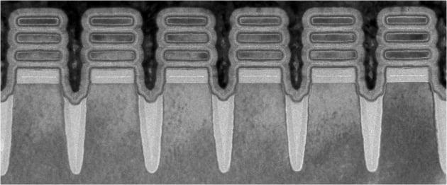 IBM이 2nm 테스트칩 개발에 사용한 '나노시트' 기술의 일부. IBM 제공.