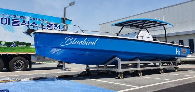 에이치엘비가 개발한 소형 수소선박 블루버드