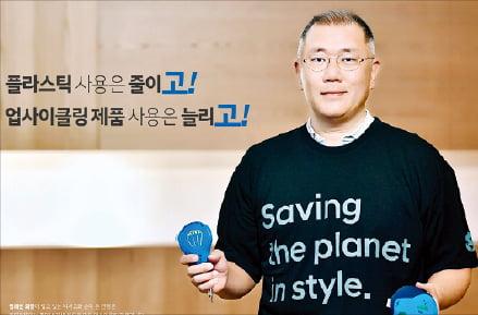 플라스틱 줄이기 캠페인에 참여한 정의선 현대차그룹 회장