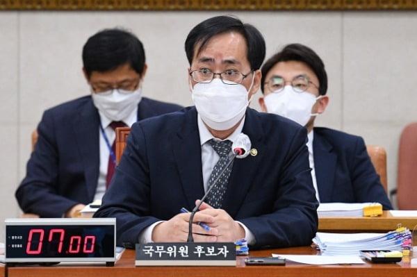 박준영 해양수산부 장관 후보자. 연합뉴스
