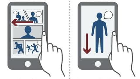 가로로 한페이지씩 스크롤하는 일본 웹툰은 화면구획이 많아 스마트폰에서는 읽기 어렵다. 반면 한국의 풀컬러, 세로읽기형 웹툰은 화면구성이 자유로워 스마트폰 화면으로 읽기 쉽고 다른 언어로 번역하기도 쉽다고 니혼게이자이신문은 분석했다.