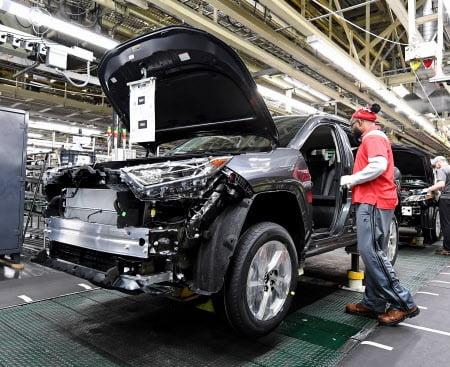 도요타자동차의 미국 켄터키주 공장(니혼게이자이신문)