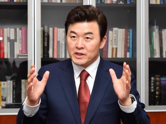 국회 윤영석 국민의힘 당대표 후보 인터뷰. 김병언 기자
