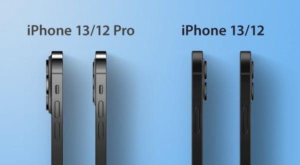 아이폰13 프로 및 일반 모델 카메라 범프 렌더링 이미지/사진=GSM아레나 캡쳐