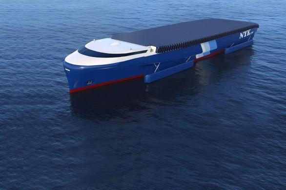 일본 대형 해운사 일본유선이 발표한 친환경 컨테이너선 'NYK슈퍼에코십2050'의 이미지