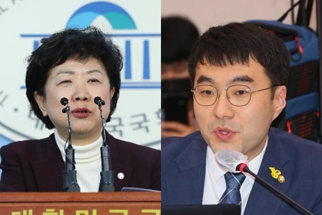 박인숙 전 미래통합당 의원, 김남국 더불어민주당 의원 /사진=연합뉴스