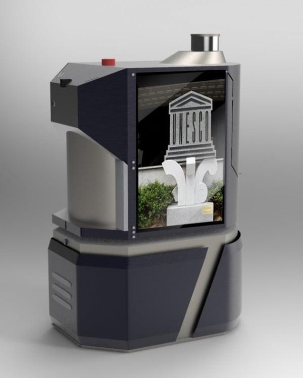 LG유플러스는 광주광역시 5.18기념문화센터 등에 모바일엣지컴퓨팅(MEC)을 활용한 5G 융합서비스 발굴·공공선도 적용 사업을 수주했다고 17일 밝혔다. 사진은 5G MEC 지능형 로봇의 모습/사진제공=LG유플러스