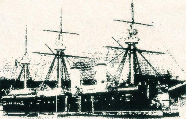 러일 전쟁 당시 울릉도 앞바다에서 침몰된 러시아 군함 드미트리 돈스코이호.