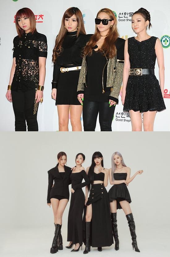 그룹 2NE1, 블랙핑크 /사진=한경DB, YG엔터테인먼트 제공
