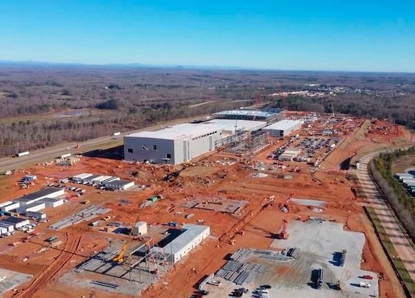 미 조지아주 잭슨카운티 건설 중인 SK이노베이션 배터리 공장. SK이노베이션 제공.