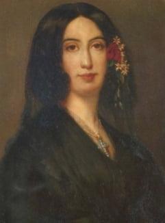 쇼팽의 연인이었던 소설가 조르주 상드.