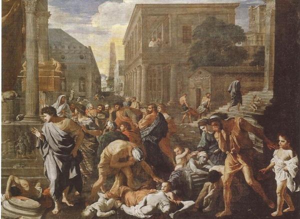 니콜라 푸생(Nicolas Poussin)의 '아슈도드에 번진 흑사병'. 작품 소장=프랑스 파리 루브르박물관