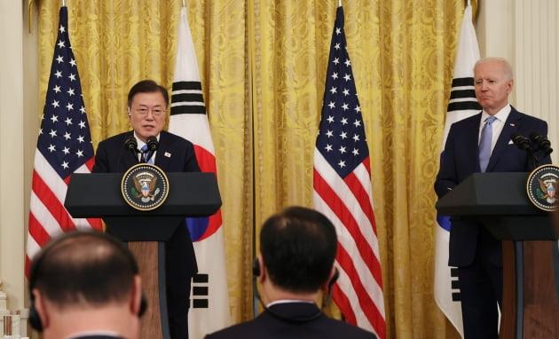 """한·미 정상 공동성명 """"완전한 비핵화, 北 인권 개선에 협력"""" [전문]"""