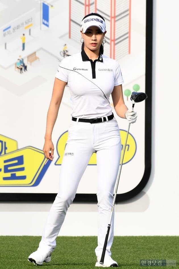 [포토] 유현주, '필드 위의 미녀'