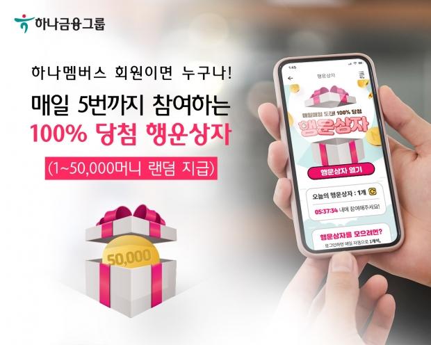 하나멤버스, 하나머니 무료적립 서비스 『행운상자』 시행