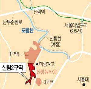 """속도내는 신림뉴타운…2구역 """"연말 철거"""""""