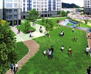 구로역 엔트리움 잔디마당