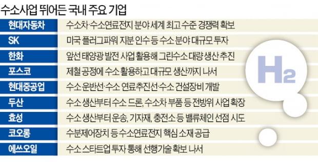 """""""수소는 못 참지""""…10대그룹 중 삼성·LG 빼고 다 뛰어들어"""