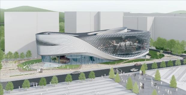 경기 성남시가 게임·콘텐츠 특구 지정과 관련해 393억원을 투입해 분당구 삼평동에 2024년 개관 예정인 'e스포츠 전용 경기장' 조감도.  성남시 제공