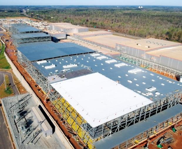SK이노베이션이 미국 조지아주에 짓고 있는 배터리 공장. /사진=SK이노베이션 제
