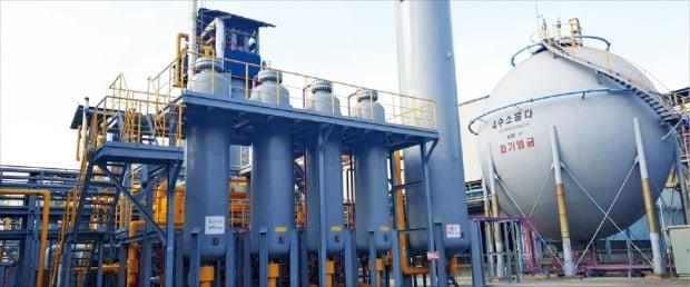 포항제철소 수소생산설비.  포스코  제공