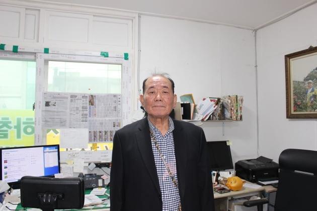배기근 '실버퀵' 대표. 실버퀵은 서울 교통의 요충지인 을지로 4가역에 있다. 당일에 근무하는 직원들은 사무실에 대기 후 이동한다.