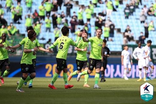K리그1 선두 전북, 제주와 1-1 무승부…울산과 격차 4점으로(종합)